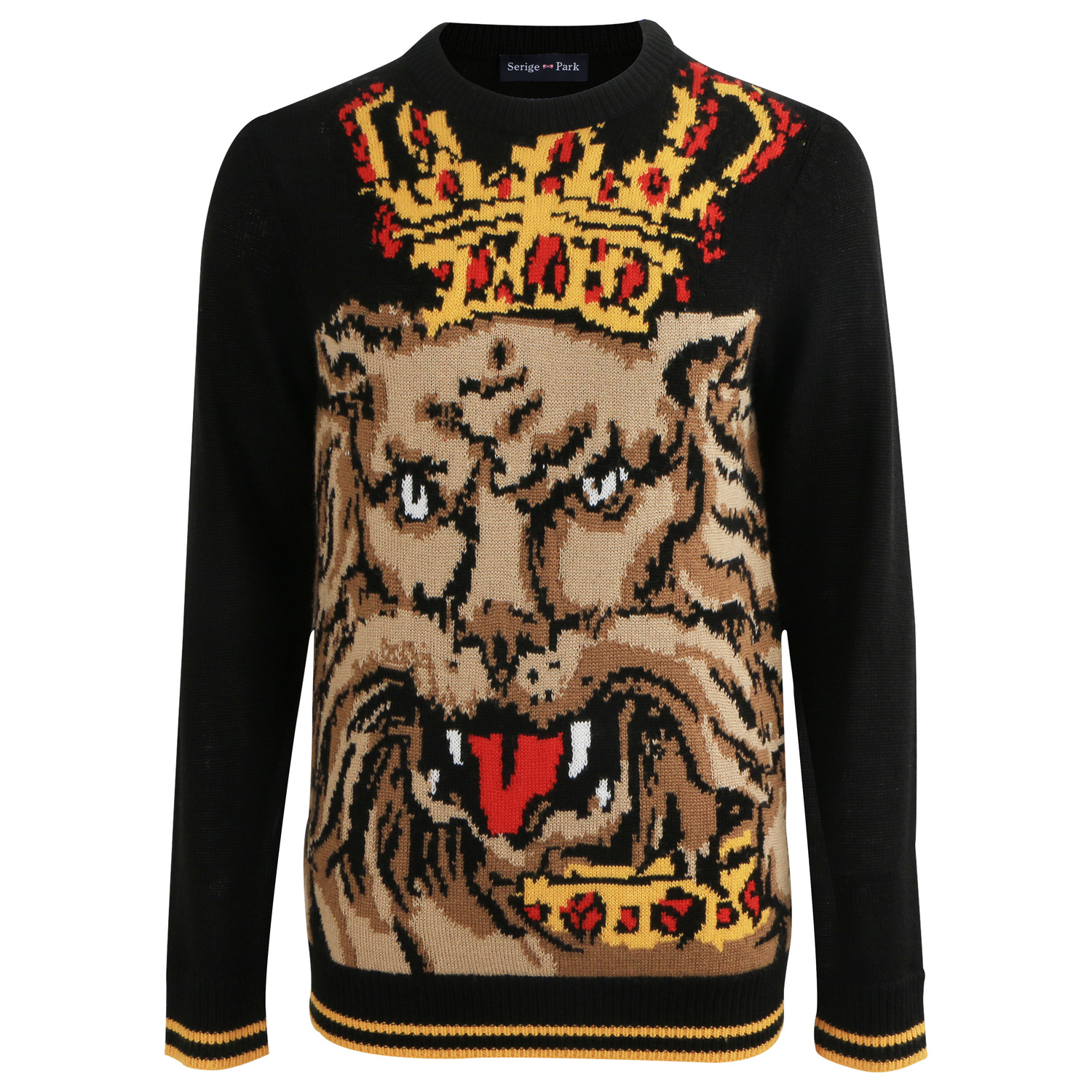 New Brand Wool  Winter Moschino 2019 Autumn Fashion Long Sleeve Knitted Pullover Men Cashmere Sweater High Quality Pattern