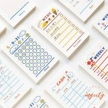 Yoofun 50 arkuszy minimalna lista Do zrobienia Plan tygodniowy notatnik Kawaii biurowe notatki przenośny notatnik kreatywne szkolne materiały biurowe