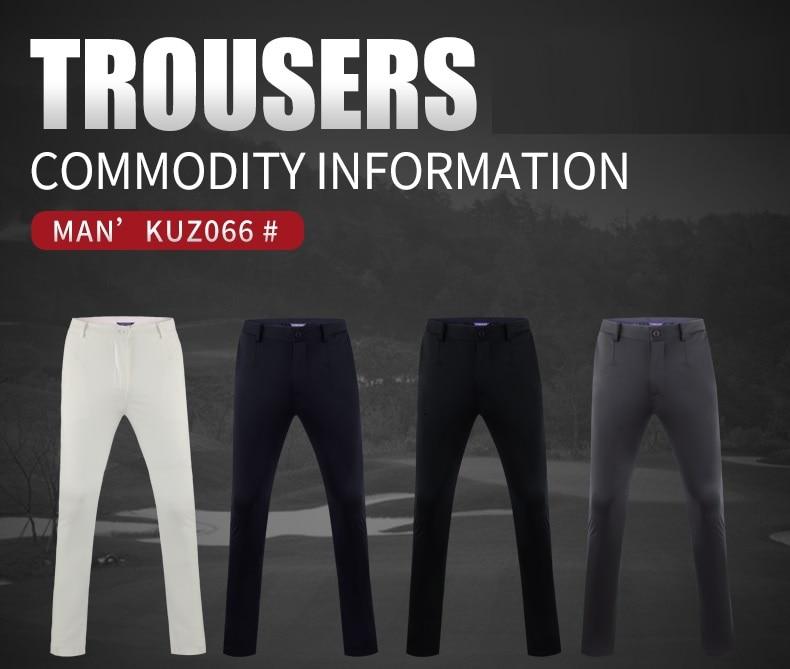 homens outono inverno espessamento calças de golfe