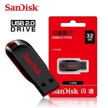 100% original sandisk pen drive cz50 usb pen drive 128gb 32gb 64gb de alta velocidade 16gb 8gb vara de memória usb mini u disco usb 2.0