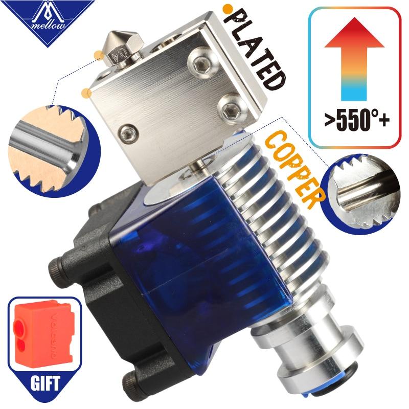 Mellow 12 v/24 v Nf-v6 Banhado A Cobre Vulcão Bowen Remoto Impressão Hotend J-cabeça Hotend Kit Completo para Impressora 3D E3d Hotend Para Pt100