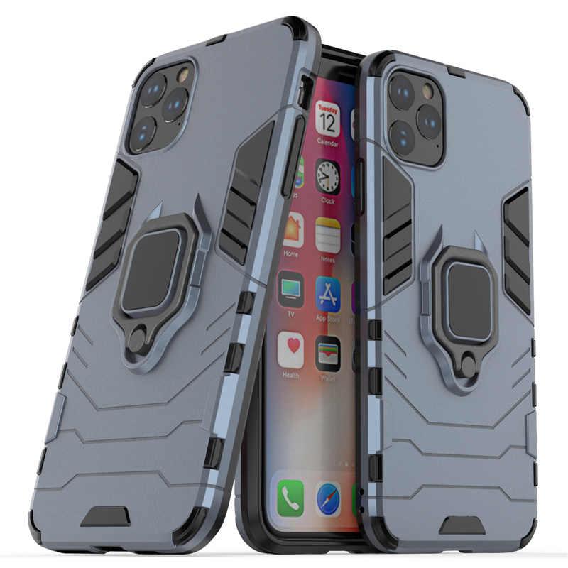 Защитный чехол для iphone 11 Pro Max X XR 10 XS Max 7 8 6 S 6 S Plus 5 5S 5SE мягкий + жесткий чехол-подставка для телефона ПК с кольцом противоударный чехол