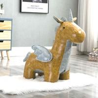 Creative Pink Horse Pony Stool Footstool Holiday Gift Sofa Stool Creative Unicorn Animal Stool Change Shoe Bench