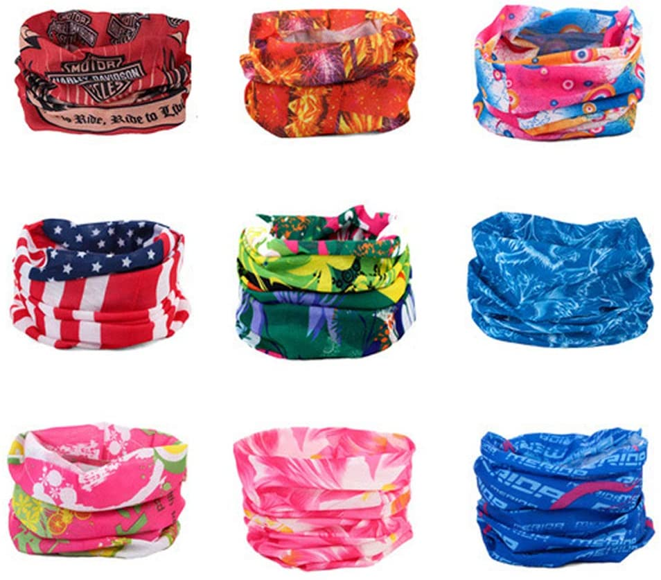 2020 Summer Outdoor Scarf Windproof UV Protection Face Mask Climbing Cycling Sweatband Headwear Camouflage Bandana Neck Scarves