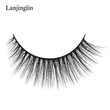 New 3 pairs natural false eyelashes fake lashes long makeup 3d mink lashes extension eyelash mink eyelashes for beauty #X11 3