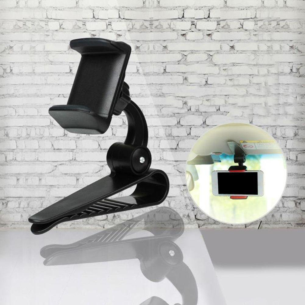 Visera de seguridad Universal innovadora para coche, soporte de teléfono con Clip para instalar, soporte de navegación, espejo para mano móvil ZY0209 R7J2