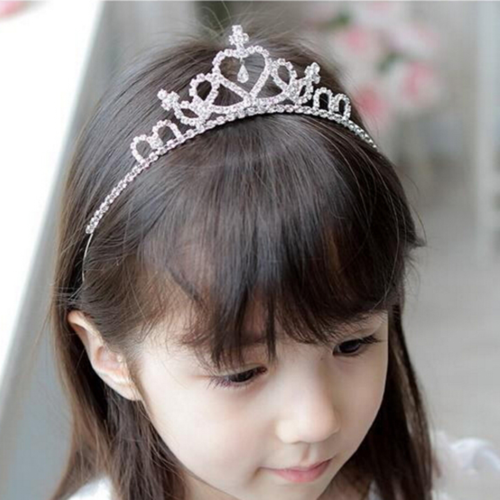 <font><b>Princess</b></font> Crystal Tiaras And <font><b>Crowns</b></font> Headband Kid Girls Love Bridal <font><b>Crown</b></font> Wedding Party Accessiories Hair Jewelry image