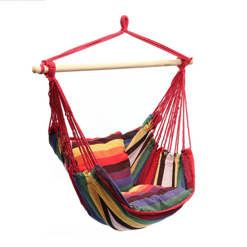 Portable Hammock Chair Outdoor Cradle Chair Swing Comfortable Indoor Household Hammock Bed Dormitory Leisure Hanging Chair Stool