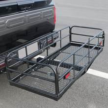 400 lbs dobrável engate montar cesta de carga transportadora 2
