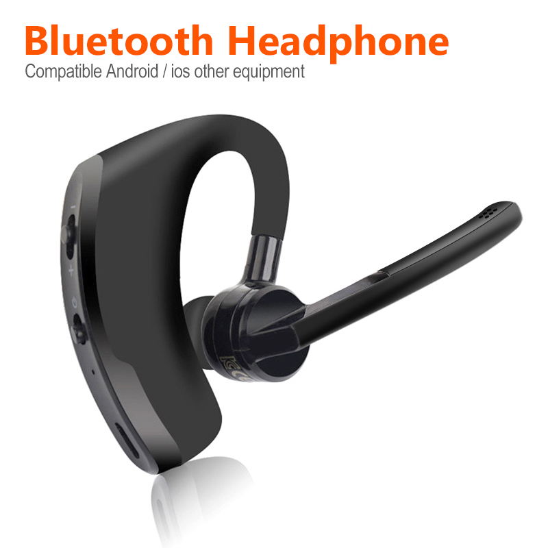 Wireless <font><b>Bluetooth</b></font> Headset <font><b>Bluetooth</b></font> <font><b>Earphone</b></font> with Mic Handsfree for Driving Car Business Headphones for iPhone Samsung Huawei image
