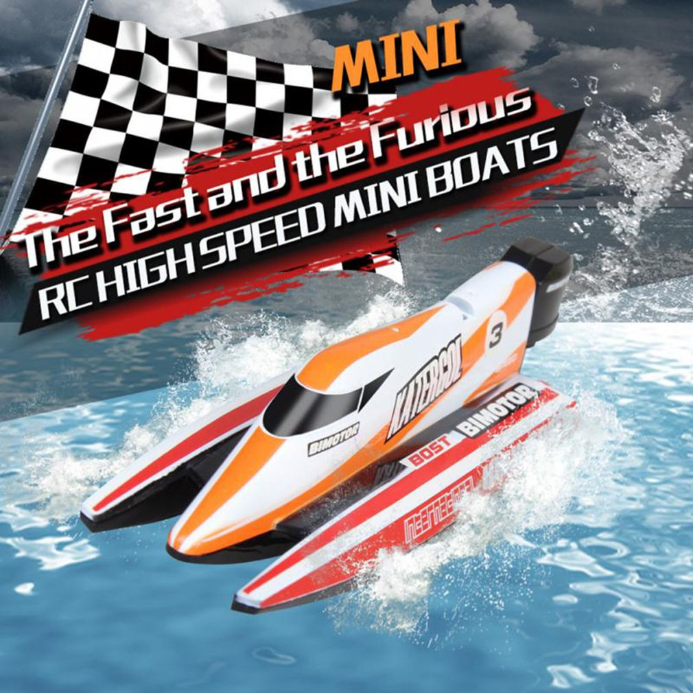 3312M F1 2.4GHz RC Boat 4 CH High Speed Mini Racing Boat Drop Bruise Rechargeable Powerful Speedboat Children Toys best gifts