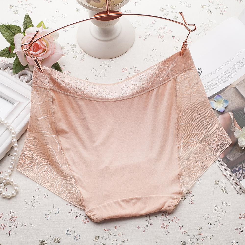 2020 Summer Sexy Lace Women Panties Mid-waist Panty Breathable Sexy Seamless Briefs Openwork Solid Underwear New