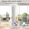 Tuya inteligente zigbee/wifi cortina do motor controle app sincronismo sem fio elétrica cortina trabalho do motor com alexa/google casa inteligente