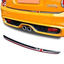 1х Юнион Джек Автомобильный багажник задний бампер наклейка подоконник защитная пластина резиновая крышка оградительная защита для MINI Cooper F55 F56 JCW аксессуары