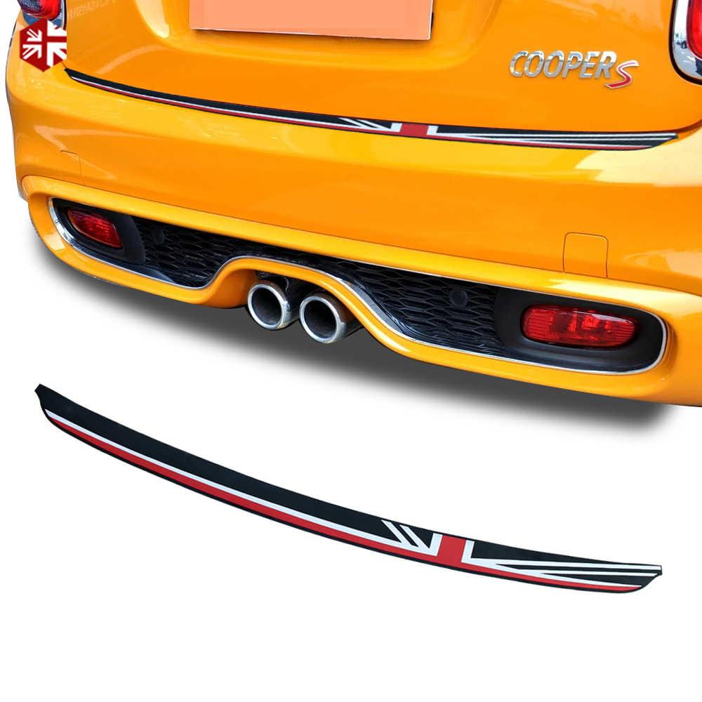 1x union jack carro tronco traseiro adesivo protetor do peitoril placa de borracha capa guarda guarnição para mini cooper f55 f56 jcw acessórios