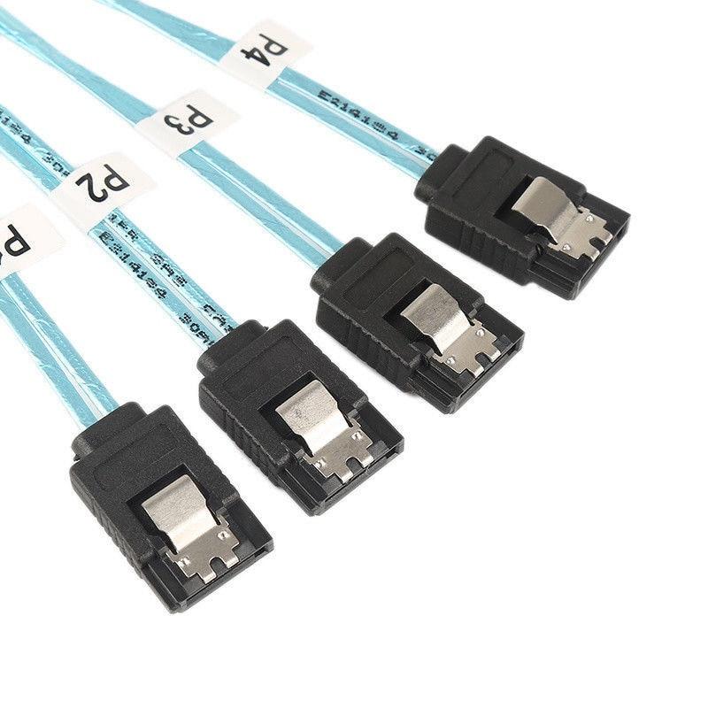 Breakout Cable Blue V2 For PC Computer Mini SAS 4i SFF-8087 36 Pin To 4 SATA 7-PIN HD Splitter