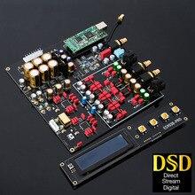 듀얼 ES9038PRO DAC 디코더 무손실 광 동축 디코더 384kHz DSD 512 지원 OLED 디스플레이가있는 Bluetooth 5.0 USB 카드 추가