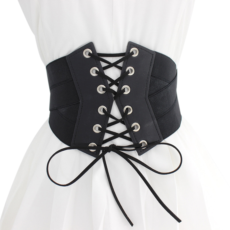 2020 New Women Cummerbund High-elastic Super Wide Strap Dress Zipper Buckle Fashion Waistband AccessoriesW