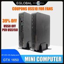 Ordinateur de jeu Intel i5 9400F 6 cœurs 6 fils i7 8700 i3 9100F Nvidia GTX 1050TI Mini PC 2 * DDR4 2 * HDMI 2.0 1 * DP 1 * DVI WiFi