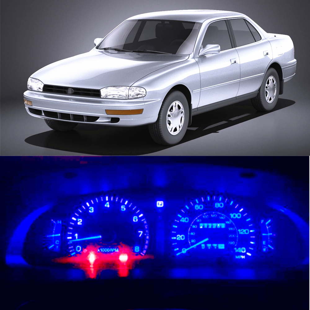 WLJH Super Bright Instrument Panel Cluster Gauge Speedometer Cluster Lamp Bulbs 12V LED Light Kits For Toyota Camry 1987-2001