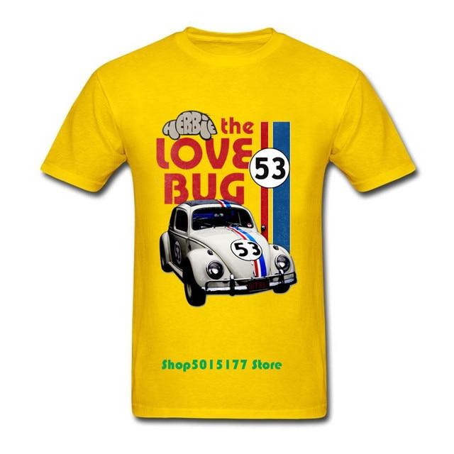 Love Bug Mens Funny Herbie Rides Again T-Shirt Car Enthusiast