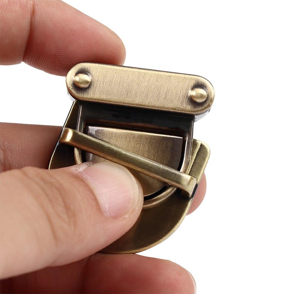 ISKYBOB 1Pc Practical Metal Clasp Turn Lock Twist Lock for DIY Handbag Purse Hardware Part Closure Bag Parts Accessories