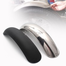 Black/Chrome Metal Motorcycle Retro Rear Fender Mudguard Cover Protector for Harley BOB Vintage Cafe Racer