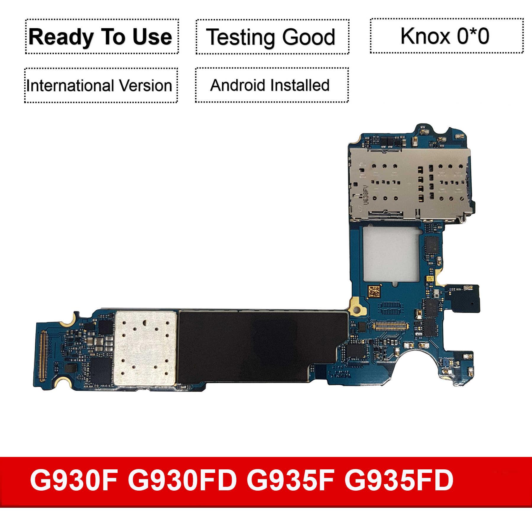 32 gb original desbloqueado europa placa mãe para samsung galaxy s7 borda g935f g935fd s7 g930f g930fd placa lógica