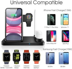 Image 2 - 4 ב 1 צ י אלחוטי מטען Stand עבור iphone 11 פרו XS MAX XR X מהיר טעינת Dock תחנה עבור אפל שעון 5 4 3 2 1 Airpods פרו