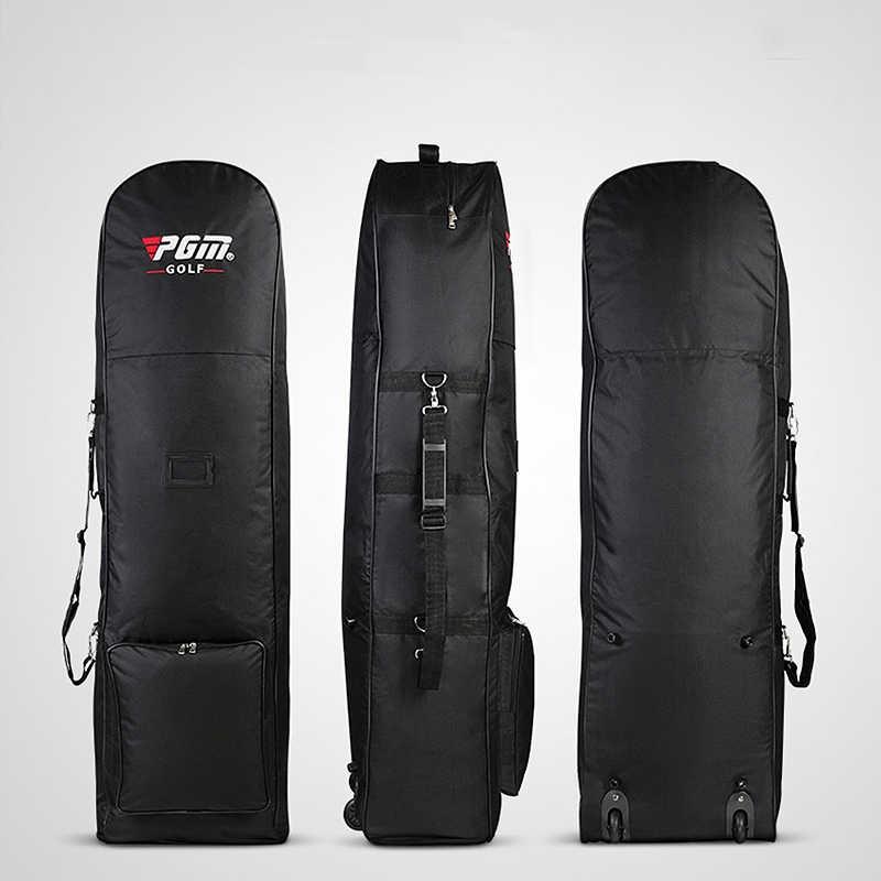 Pgm النايلون حقيبة غولف الهواء حقيبة مع بكرة لطي حقيبة غولف مزدوجة سستة خفيفة الوزن الكرة حقيبة