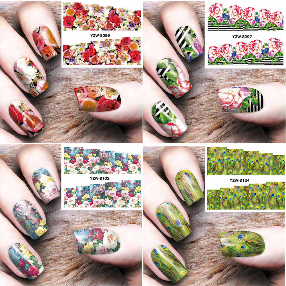 DIY Nail Applique Adhesive Flower Rattan Nail Sticker Lace Design Nail Paste Nail Stickers Garden Style Nail Stickers 2020 new