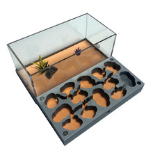 3D Acryl Flat Ant Farm Ecological Ant Nest with Feeding Area Concrete Ant House Pet Anthill Workshop Moisturizing Water Pool New(China)