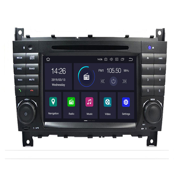 Android 10 4G 64G 2DIN Car DVD GPS For Mercedes/Benz W203 W209 W219 W169 A160 C180 C200 C230 C240 CLK200 CLK22 radio stereo Cam image