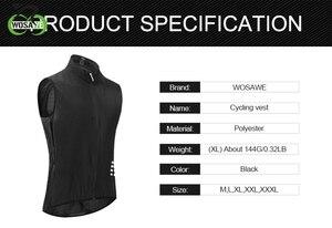 WOSAWE жилет для велоспорта, сохраняющий сухость и тепло, сетка, Ciclismo, без рукавов, велосипедная майка, Джерси, зимняя одежда для велоспорта, жил...