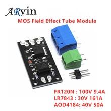 Módulo isolado do tubo do efeito de campo de mosfet mos fr120n lr7843 d4184 aod4184 relé de substituição para arduino e mcu