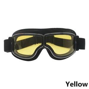 1 шт желтый прозрачный серебряный серый лен цвет шлем очки УФ-защита ветрозащитные очки для мотоцикла и велосипеда