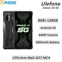 Ulefone Armor 10 5G 견고한 전화 8GB 128GB 안드로이드 10 64MP 카메라 IP68/IP69K 5800mAh 지원 5G OTG NFC 스마트 폰