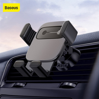 Baseus car holder for iPhone X XR XS Samsung S9 car mount gravity holder for all mobile phone in car air vent mount holder|Phone Holders & Stands| |  -