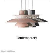 İskandinav Led kolye ışıkları oturma odası için renkli askıya lamba yemek odası kolye lamba Modern mutfak aydınlatma armatürleri