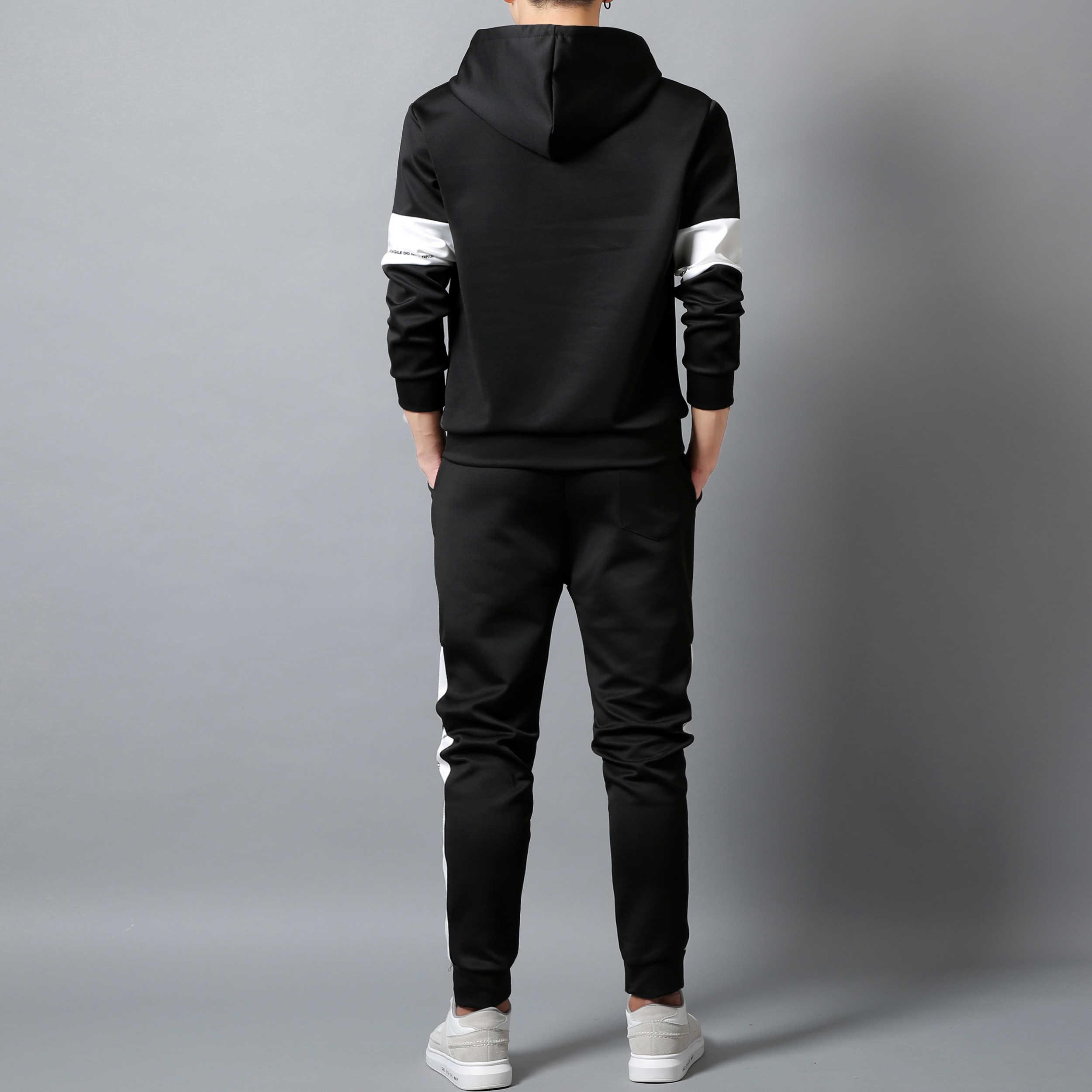 새로운 브랜드 의류 남자 패션 Tracksuit 캐주얼 Sportsuit 남자 Hoodies 스웨터 스포츠 조깅 휘트니스 훈련 남성 세트