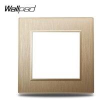 Одиночная Золотая панель Wallpad S6 для самостоятельной сборки, матовая пластиковая панель для настенного выключателя, розетка, имитирующая ал...