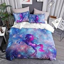 Unicorn Bedding Set Duvet Cover Colorful Rainbow Bed Set for Kids 3pcs Home Textile ланчбоксы наборы посуды caki home 3pcs set 50 chds003