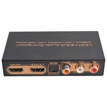4K@60Hz HDR HDMI Audio Extractor HDMI Switch 3D One Optical Coaxial HDCP2.2 LR ARC Audio EDID Setting for PS3 HDTV DVD STB EU Pl цена и фото