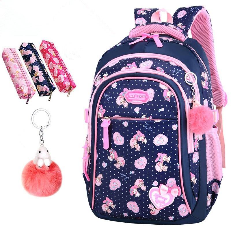 Image 5 - 2020 New Hot Sale School Bags children backpacks Large Capacity Student Bag Simple Splash proof Backpack Sweet Print BackpackSchool Bags   -