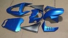 カワサキZ1000 Z750フェアリングカワサキZ1000 Z750ボディキット2003-2006フルボディキットマットブルーマット黒