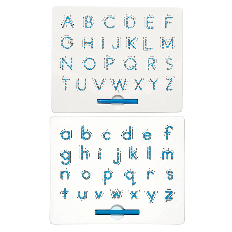 2 Pcs A To Z Letters Magnet Board For Kids Educational Toy Magnetic Balls Tablet, Lower Case Letters & Capital Letters