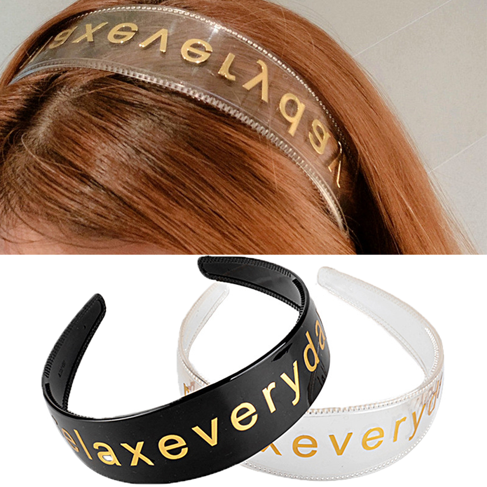 Details about  /Side Gold Letters Personality Hair Accessories Hair Hoop Head Hoop Headband