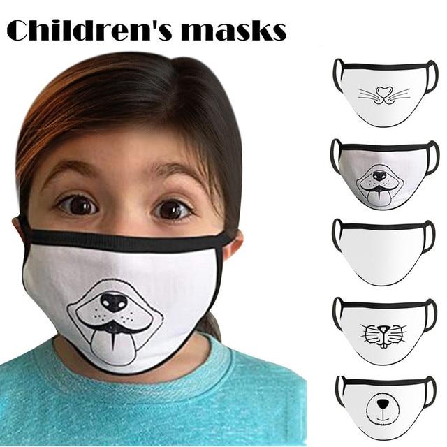 Korean Lovely White Dust Mask Kawaii Cotton Mouth Mask Cute Unisex Cartoon Mouth Muffle Face Mask Bear Mask0813