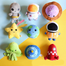 10 Styles New Arrival Cosmic Series Plush Toys Cartoon Spaceship Mini Earth Planet Cute Gift Kawaii Keychain