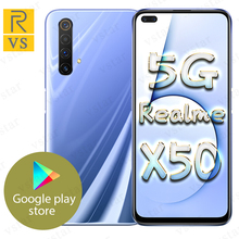 Oryginalny Realme X50 5G SmartPhone 6 57 calowy Snapdragon 765G 5G Octa Core Android 10 SA NSA NFC tanie tanio Nie odpinany CN (pochodzenie) Rozpoznawania linii papilarnych Do 200 godzin ≈64MP 4200 VOOC Smartfony Gra Turbo GPU Turbo
